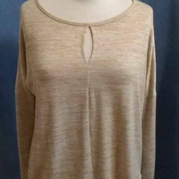 Lucky Brand Tops - Lucky Brand Cold Shoulder Keyhole Long Sleeve Top